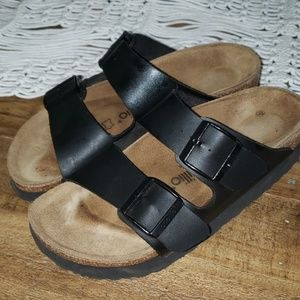 Platform Birkenstocks like new!